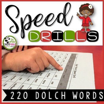 Dolch Word Speed Drills For All 220 Words