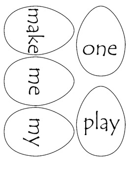 Sight Word Spring Eggs Write the Room