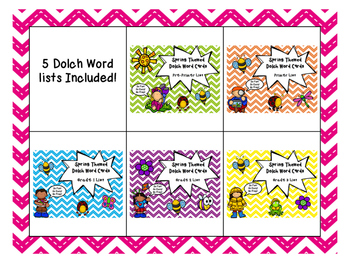 Dolch Word Spring Themed Games - BUNDLE!