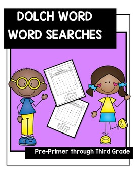 DOLCH Word-WORD SEARCHES (Pre-Primer-Third Grade) *GROWING*
