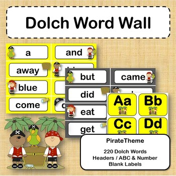 Dolch Word Wall Bundle - Pirates