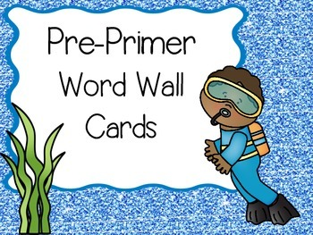 Dolch Word Wall Cards Ocean Themed