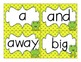 Dolch Word Wall Cards and Header Cards {Frog Theme} Editable