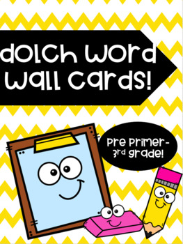 Dolch Word Wall Cards and Letters