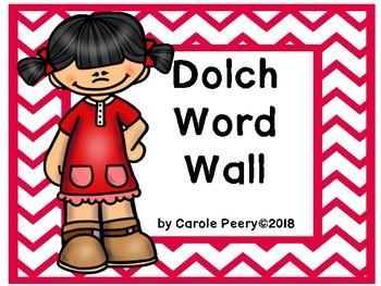Dolch Word Wall Chevron Editable