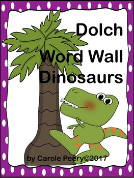 Dolch Word Wall Dinosaurs