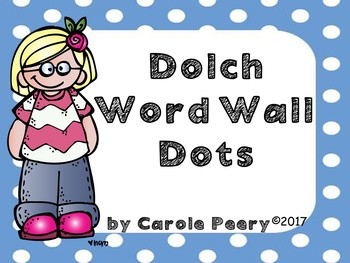 Dolch Word Wall Dots Large Cards