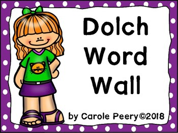Dolch Word Wall Dots Editable