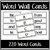 Word Wall Cards -OR- Flash Cards