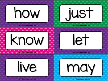 Dolch Sight Words Word Wall, Matching Letters and Flashcards (Editable)