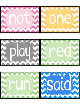 Dolch Word Wall Pack and Cards for pre-primer-3rd {Editable}