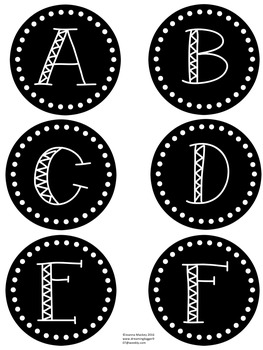 Dolch Word Wall {Pre-Primer to 3rd} in Black, White, Gray, Chevron