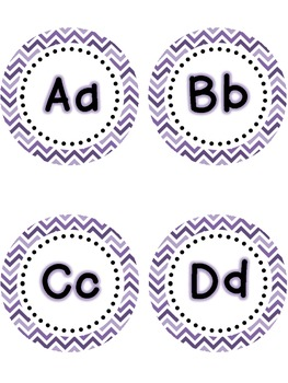Dolch Word Wall - Purple & White Chevron {Editable}