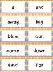 Dolch Word Wall - Rainbow Chevron {Editable}