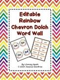 Dolch Word Wall - Rainbow Chevron {Editable}