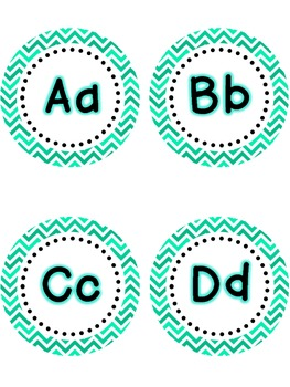 Dolch Word Wall - Turquoise & White Chevron {Editable}