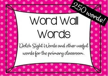 Word Wall Words: Dolch Sight Word Cards
