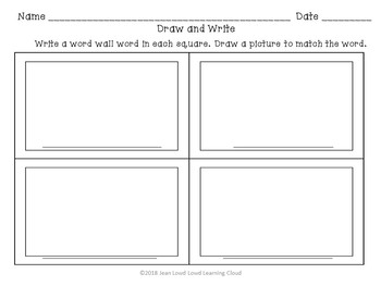 Sight Words Word Wall Words and Activities