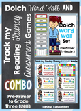 Dolch Word Wall and Track my Reading Fluency Assessment Ga