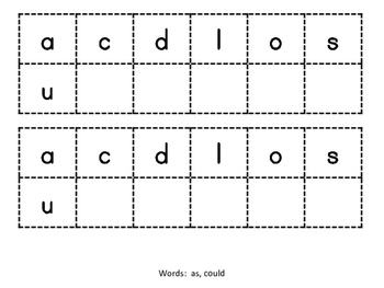 Dolch Word Work (1st Grade Set)