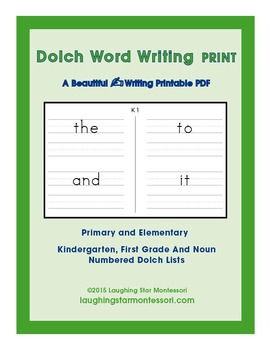 Dolch Word Writing Print