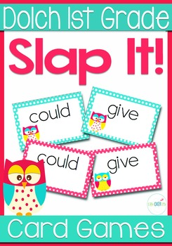 Dolch Words 1st Grade Sight Words Slap-It Card Game/Center