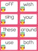 Dolch Words 2nd Grade Sight Words Slap-It Card Game/Center