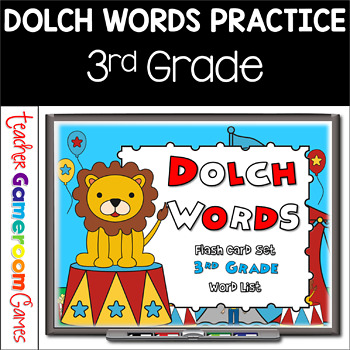 Dolch Words - 3rd Grade - Flash Card Set (Circus Theme)