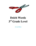 Dolch Words 3rd Grade Level - Cut and Paste