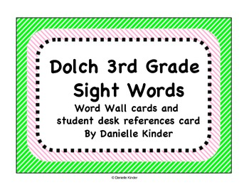 Dolch Words 3rd Grade Word Wall Cards