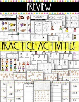 Dolch Words Activities: Pre-Primer {American Sign Language}