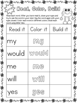 #btsblackfriday Sight Words Bundle Printables, Games and Flashcards - First 100
