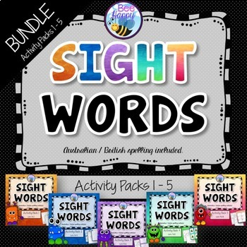 Sight Words Bundle - Printables, Games and Flashcards - First 100