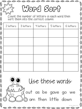 Sight Words - Printables, Games and Flashcards Pack 2