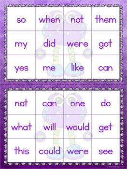 Sight Words - Printables, Games and Flashcards Pack 3