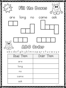 Sight Words - Printables, Games and Flashcards Pack 4