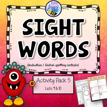 Sight Words - Printables, Games and Flashcards Pack 5