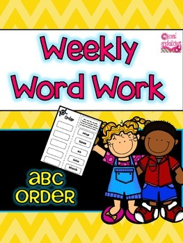 ABC Order Word Work