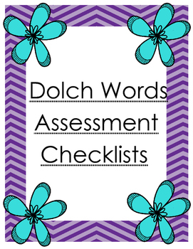 Dolch Words Assessment Checklists