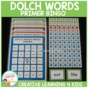 Dolch Words Bingo Primer