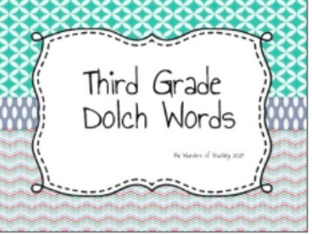Dolch Words Bundle: Assessments and Flash Cards