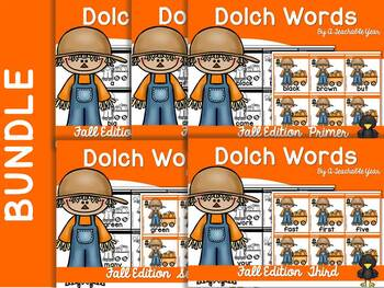 Dolch Words Fall Edition -Bundle