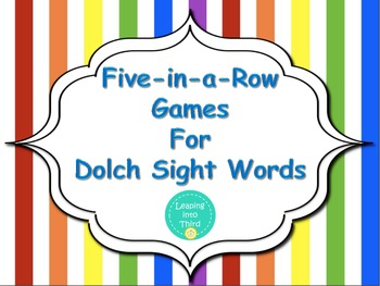 Dolch Words Five-in-a-Row Games