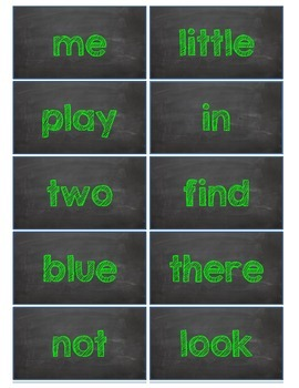 Dolch Words Flashcards:  Chalkboard - Green Chalk