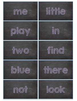 Dolch Words Flashcards:  Chalkboard - Purple Chalk