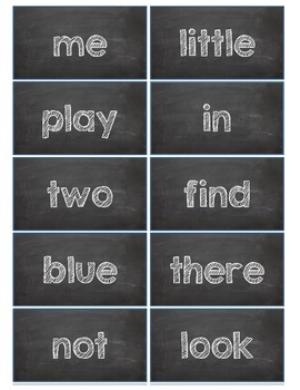 Dolch Words Flashcards:  Chalkboard - White Chalk