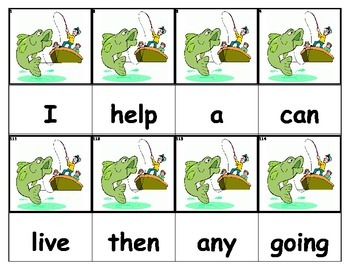 Dolch Words Flashcards - Fishing
