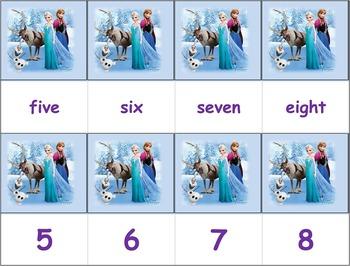 Dolch Words Flashcards - Frozen ( Literacy Set )