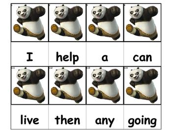 Dolch Words Flashcards - Kung Fu Panda