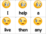Dolch Words Flashcards (Large) - Emoji Characters